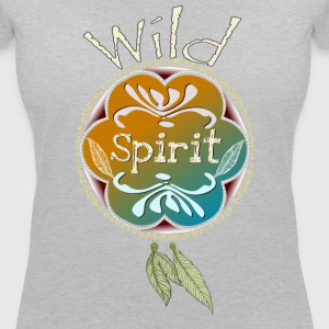 Wild Spirit - Women's Organic V-Neck T-Shirt by Stanley & Stella