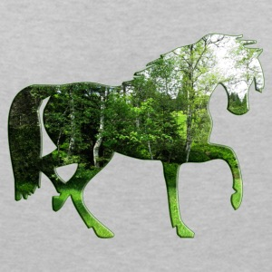forest horse - Women's V-Neck T-Shirt