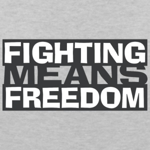 Fighting Means Freedom - Women's V-Neck T-Shirt
