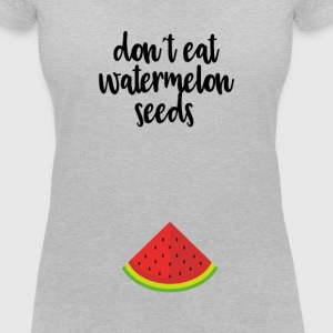 Dont eat watermelon seeds - black - Women's V-Neck T-Shirt