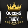 Queens are born in June - Women's Organic V-Neck T-Shirt by Stanley & Stella