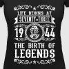 1944 - 73 years - Legends - 2017 - Women's Organic V-Neck T-Shirt by Stanley & Stella