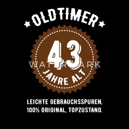 Geburtstag 43 Jahre Oldtimer Frauen Bio T Shirt Mit V Ausschnitt