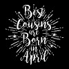 Best cousins are born in April - Frauen Bio-T-Shirt mit V-Ausschnitt von Stanley & Stella