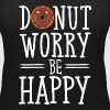 Donut Worry Be Happy - Women's Organic V-Neck T-Shirt by Stanley & Stella