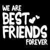 we are best friends forever i 1c - Camiseta ecológica mujer con cuello de pico de Stanley & Stella