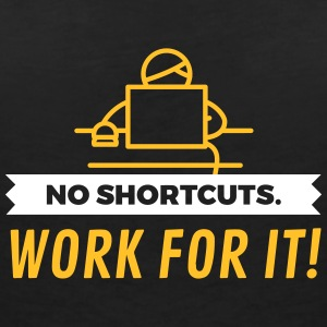 No Shortcuts. Work For It! - Women's Organic V-Neck T-Shirt by Stanley & Stella