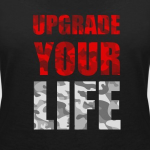 UPGRADE YOUR LIFE - Women's Organic V-Neck T-Shirt by Stanley & Stella