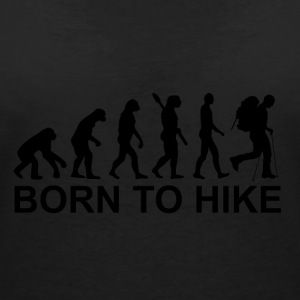 Born to hike - Vrouwen T-shirt met V-hals