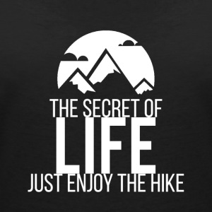 Enjoy The Hike - T-skjorte med V-utsnitt for kvinner