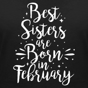 Best sisters are born in February - Frauen T-Shirt mit V-Ausschnitt