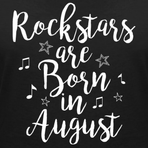 Rockstars are born in August - Women's Organic V-Neck T-Shirt by Stanley & Stella