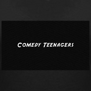 Black Comedy Teenagers T Shirt - T-shirt med v-ringning dam