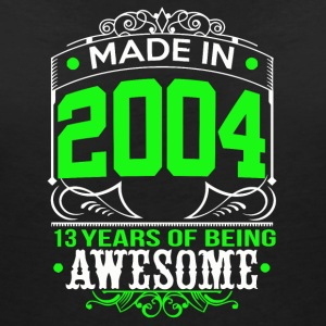Made in 2004 13 Years of being awesome - Women's Organic V-Neck T-Shirt by Stanley & Stella