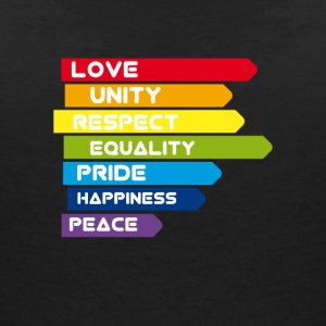 Gay Love Unity Respect Pride Peace happiness csd l - Women's Organic V-Neck T-Shirt by Stanley & Stella