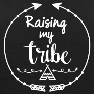 Raising my tribe - Women's Organic V-Neck T-Shirt by Stanley & Stella