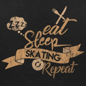 EAT SLEEP SKATING REPEAT - Women's Organic V-Neck T-Shirt by Stanley & Stella
