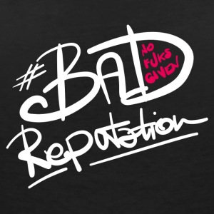 Bad Reputation - B - Vrouwen bio T-shirt met V-hals van Stanley & Stella