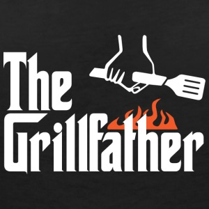 The Grillfather - Women's Organic V-Neck T-Shirt by Stanley & Stella