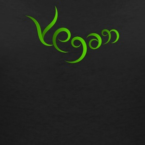 Vegan hand-written design - Women's Organic V-Neck T-Shirt by Stanley & Stella