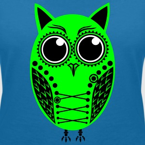 Owl steampunk own color choice - Women's V-Neck T-Shirt