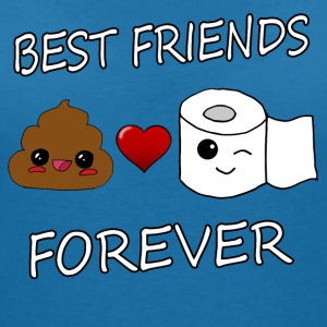 Poo and Paper Best Friends Kawaii - Women's V-Neck T-Shirt