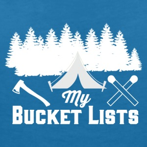 My Bucket Lists - Camping - Women's V-Neck T-Shirt