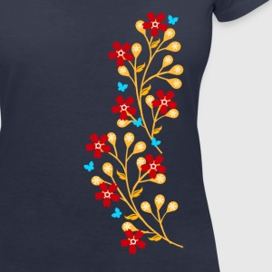 Flowers, floral tendril, twine, summer, spring, - Women's Organic V-Neck T-Shirt by Stanley & Stella