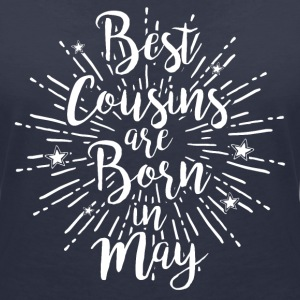 Best cousins are born in May - Frauen Bio-T-Shirt mit V-Ausschnitt von Stanley & Stella