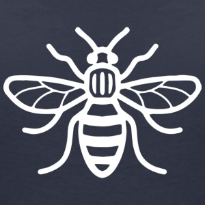 Manchester Bee (White) - Women's Organic V-Neck T-Shirt by Stanley & Stella