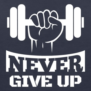 Never Give Up Fitness - T-shirt col V Femme