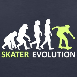 ++ ++ Skater Evolution - Women's V-Neck T-Shirt