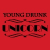 Young drunk unicorn - Women's Organic V-Neck T-Shirt by Stanley & Stella