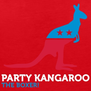 Political Party Animals: Kangaroo - Women's V-Neck T-Shirt