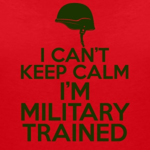 Military / Soldiers: I can't keep calm. I'm a militar - Women's Organic V-Neck T-Shirt by Stanley & Stella