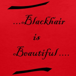 Blackhair is beautiful - Women's Organic V-Neck T-Shirt by Stanley & Stella