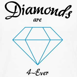 Diamanter er 4-Ever - Herre premium T-shirt med lange ærmer