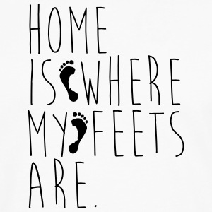 Home is where my feets are - Men's Premium Longsleeve Shirt