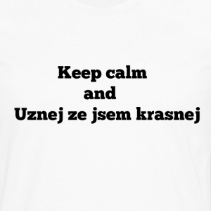 Keep calm and CZ for mens - Men's Premium Longsleeve Shirt
