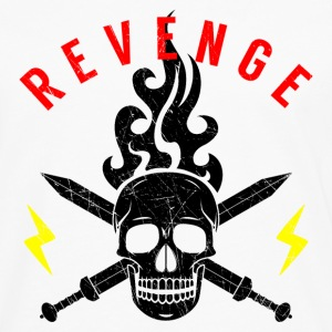Death Head Swords Flashes Flame Revenge Rocker - Men's Premium Longsleeve Shirt