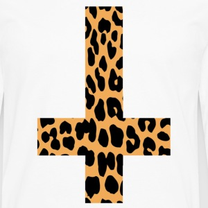 Leopard Inverted Cross - Premium langermet T-skjorte for menn