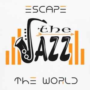 Escape the World Jazz Saxophone Music Passion Song - Långärmad premium-T-shirt herr