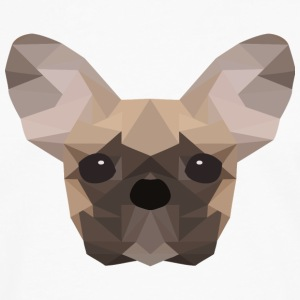 French Bulldog Low Poly - Men's Premium Longsleeve Shirt