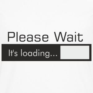 PLEASE_WAIT - Herre premium T-shirt med lange ærmer