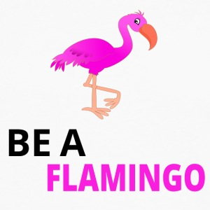 Be A Flamingo Black - Men's Premium Longsleeve Shirt