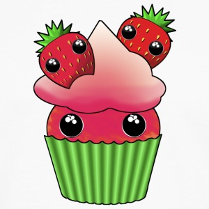 Cute strawberry kawaii cupcake - Men's Premium Longsleeve Shirt
