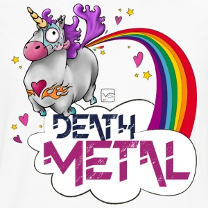 Death Metal Unicorn - T-shirt manches longues Premium Homme