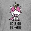 It's ok to be different - unicorn - Herre premium T-shirt med lange ærmer