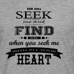 Seek me and Find me - Jesus Christ - Männer Premium Langarmshirt
