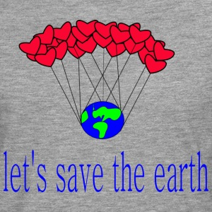 låt s_save_the_earth - Långärmad premium-T-shirt herr
